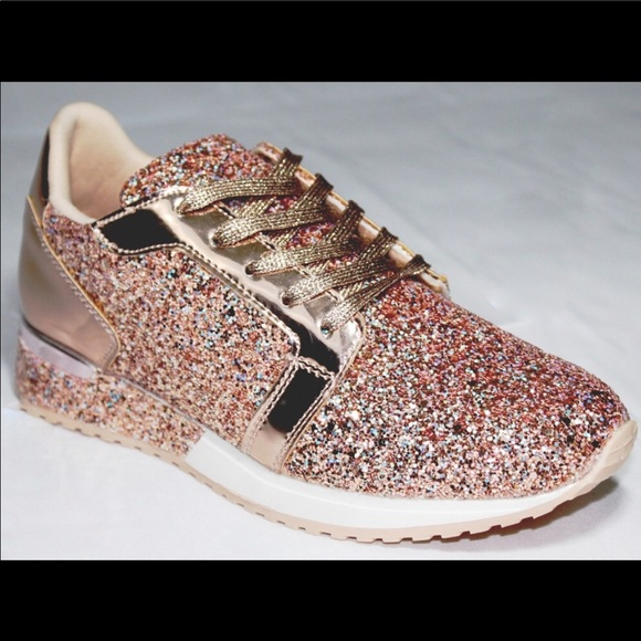 Rose Gold Sparkly Tennis Shoes   Poshmark